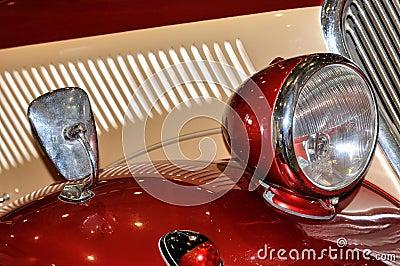 Lâmpada no carro do estilo velho