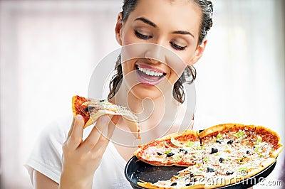 Läcker pizza