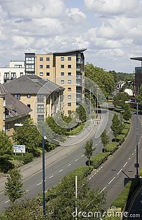 Lägenheter som wokar, Surrey i England