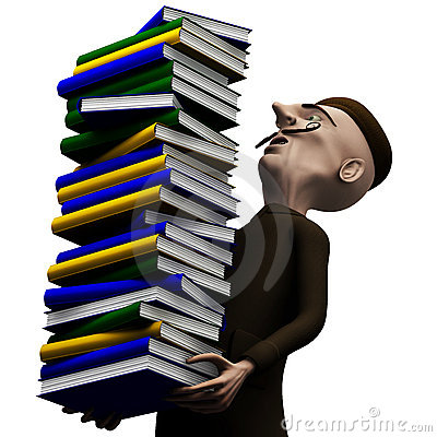 Lärare för packe för bokcarrynghistoria