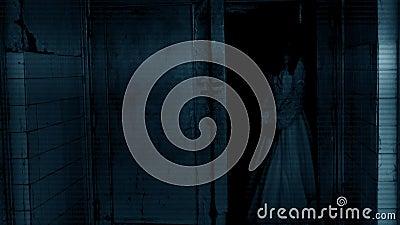 läskig platskvinna för fasa