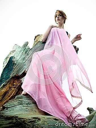 Lättretligt posera för modemodell