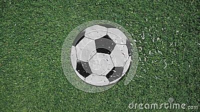 Lång hand som monterar stil för utklipp för fotbollboll en Retro med konfettier vektor illustrationer