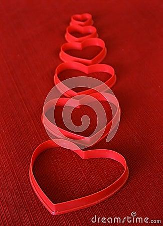 Línea de corazones