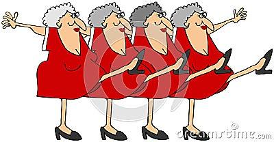 Línea de estribillo de la mujer mayor