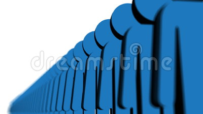 Línea de gente azul ilustración del vector