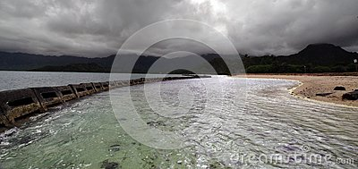 Línea de la playa de Hawaii