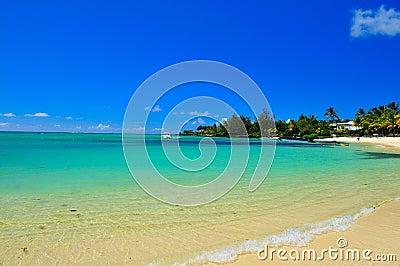 Línea de la playa de Isla Mauricio