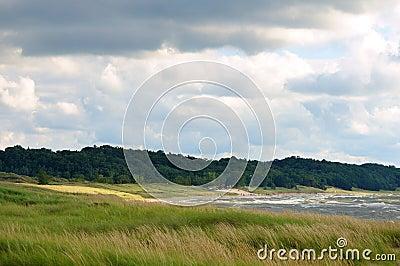 Línea de la playa y playa