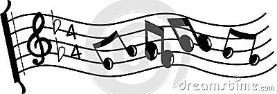 Línea de música