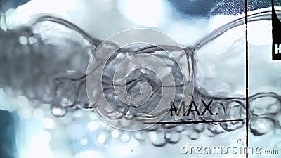 Líquido químico de ebullición almacen de video