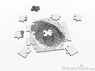 Lösen des Fingerabdruckpuzzlespiels