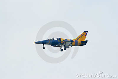 L-39 jet from Baltic Bees team Editorial Stock Image