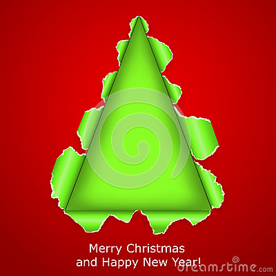 L albero di Natale astratto ha fatto il documento violento ââof