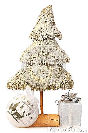 L albero di Natale ha fatto la paglia del ââof