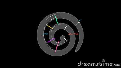 L'animazione senza cuciture di forma astratta operata di scarabocchio e le linee elemento fanno segno alla struttura grafica del  illustrazione di stock