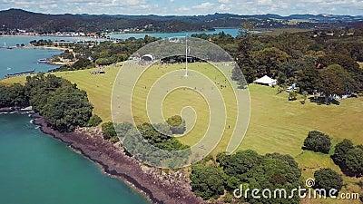 L'antenne, au sol de Traité de Waitangi retirent 4k clips vidéos