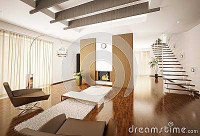 L 39 appartamento moderno 3d interno rende fotografia stock for Interni moderni appartamenti