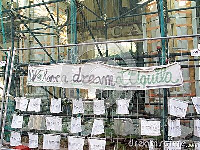 L Aquila earthquake Editorial Photography