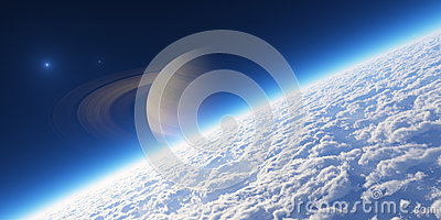 L atmosphère. Éléments de cette image meublés par la NASA.