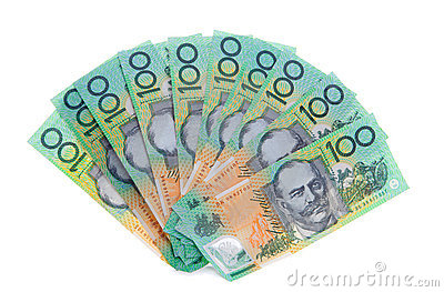 L australiano una nota dei 100 dollari fattura i soldi