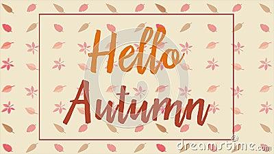 L'autunno con la caduta va sugli ambiti di provenienza del backgroundAutumn di animazione dei rami con l'animazione delle foglie royalty illustrazione gratis