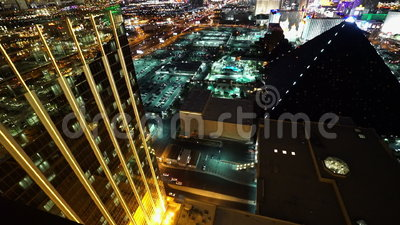 L'avant d'or de la baie de Mandalay et Delano Las Vegas - ville de Las Vegas Nevada/USA banque de vidéos