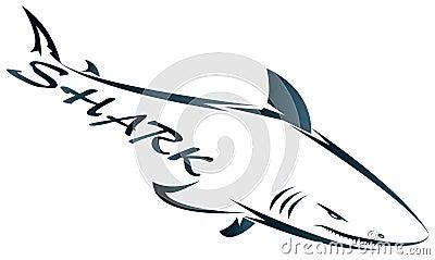 L 39 azienda dello squalo fotografie stock libere da diritti for Disegno squalo