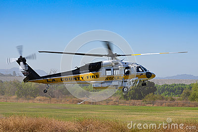 L.A. County Fire - Sikorsky S-70 Editorial Photo