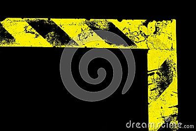 L-förmiger warnender Streifen