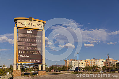 L hotel del ranch della valle verde firma dentro Las Vegas, NV il 20 agosto, 201 Immagine Stock Editoriale