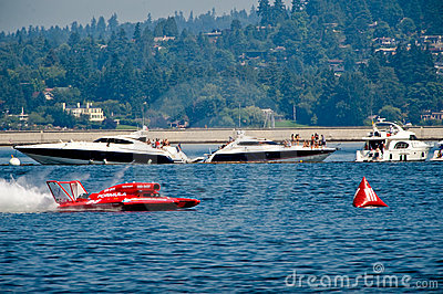 L idro corre Seafair Seattle Fotografia Editoriale