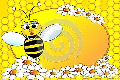 L illustration de famille d abeilles badine la maman