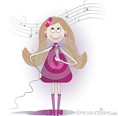 Une fille chante pour son homme en europe 9