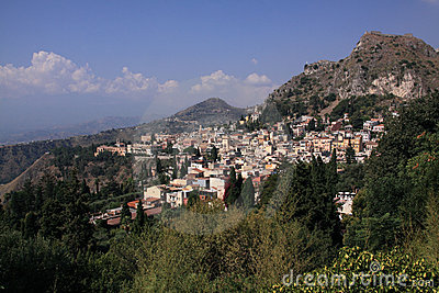 L Italia Sicilia Taormina dal teatro