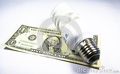 L énergie sauvegardent l ampoule