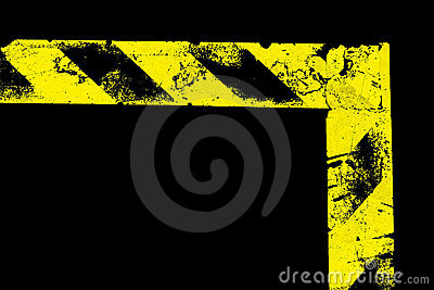 L-shaped warning stripe