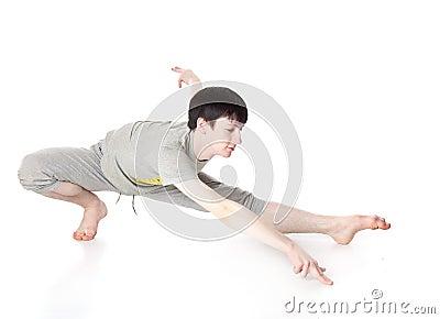 L uomo è un acrobata