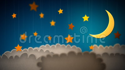 Laço da decoração das nuvens das crianças vídeos de arquivo