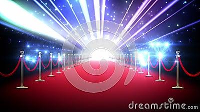 Laço mágico do tapete vermelho ilustração royalty free