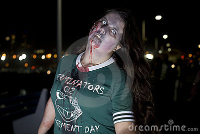 La 11 går zombien Redaktionell Arkivfoto
