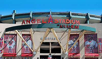 LA Angels of Anaheim Stadium Editorial Stock Image
