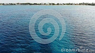 La baia occidentale di Flyover a Grand Cayman video d archivio