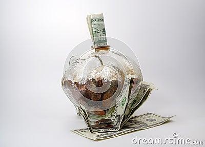 La Banca Piggy con soldi