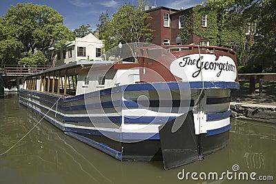 La barca Georgetown Immagine Editoriale