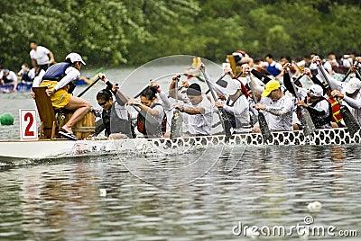 La barca predatore del drago di Mayfair Fotografia Editoriale