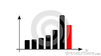 La barre analogique de rapport de données a animé Développez-vous ou concept de diagramme de bénéfice de succès illustration libre de droits