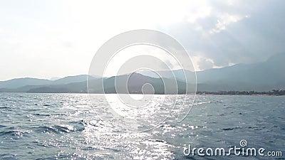 La belle cuisson de paysage marin de tir aérien a tiré la vue sur le beau paysage naturel banque de vidéos