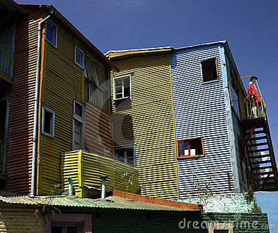 La Boca district of Buenos Aires - Argentina Editorial Stock Photo