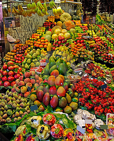 La Boqueria fruits stall.